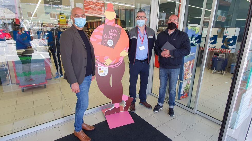 Así avanzan las obras del centro integral de salud de Lugo.Presentación da campaña en Vegalsa-Eroski