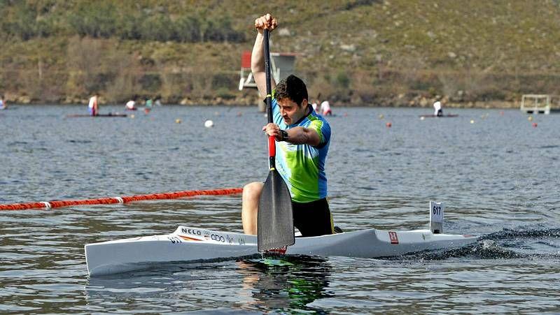 David Cal, ayer en el Club Naval de Pontevedra tras completar su entrenamiento diario.