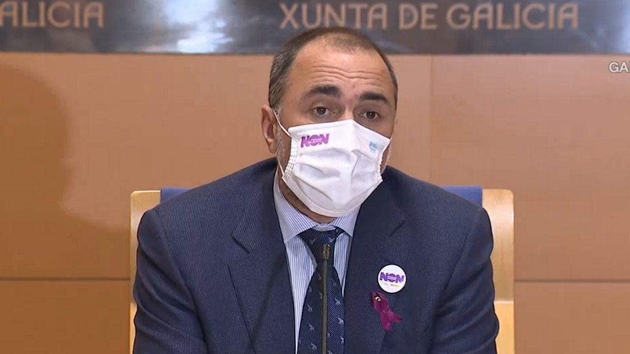 En directo y en streaming, comparecencia del conselleiro de Sanidade.Óscar Fernández Nieves, exresponsable del concesionario de coches SS Fernández de Santiago, durante su declaración en el juicio