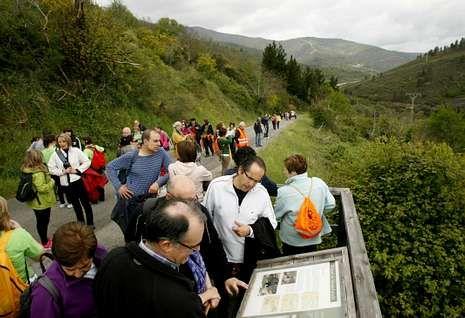 Una marcha organizada recientemente en Montefurado contra el trazado de la A-76.