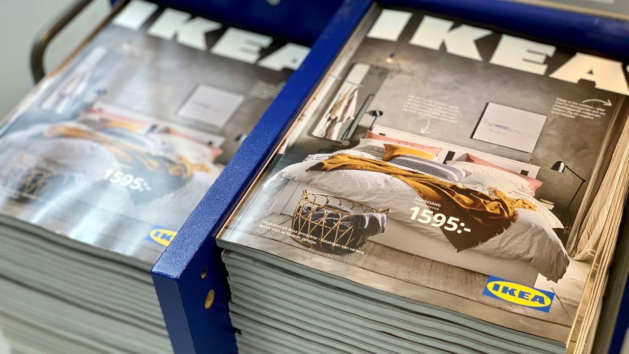 Expositor de Ikea en el centro comercial Ponte Vella