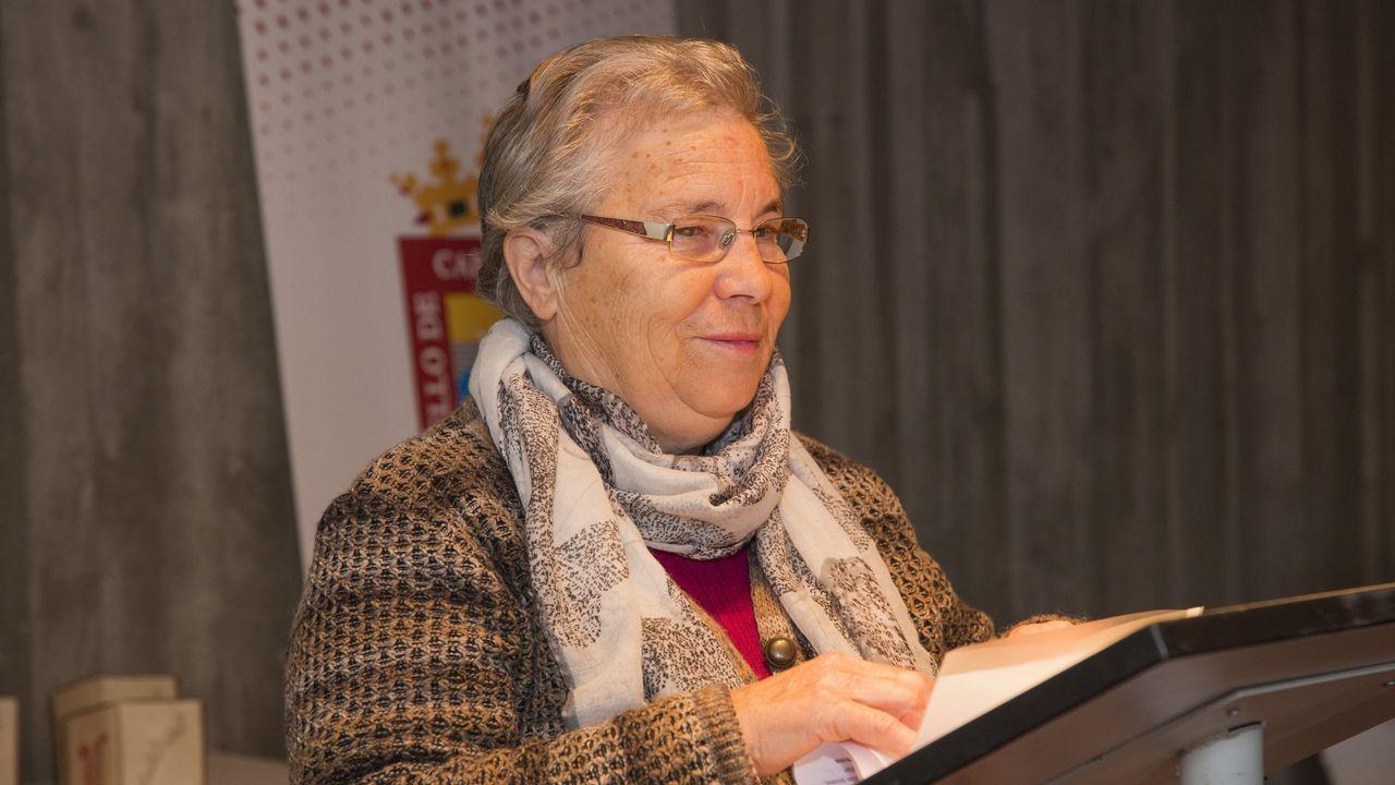Matilde Vilariño recitou un poema ao inicio da gala