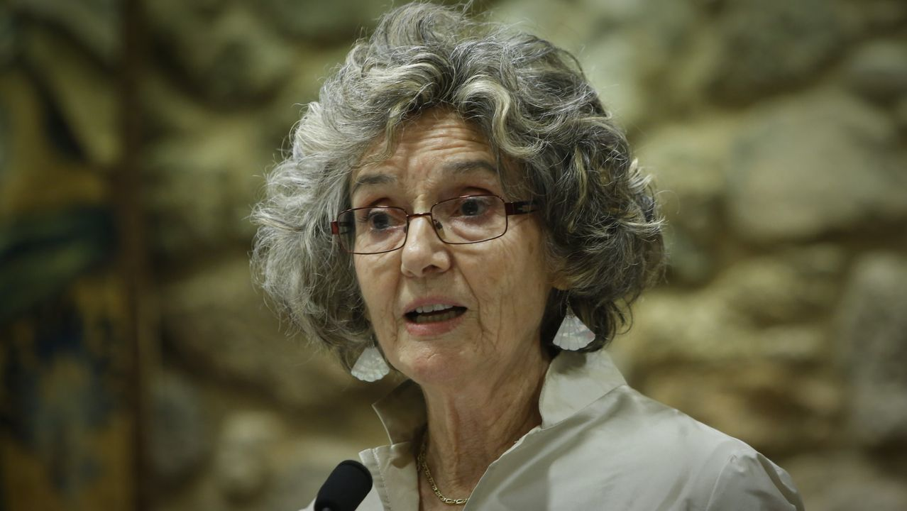Biblioteca Pública de Ourense.A escritora Marina Mayoral