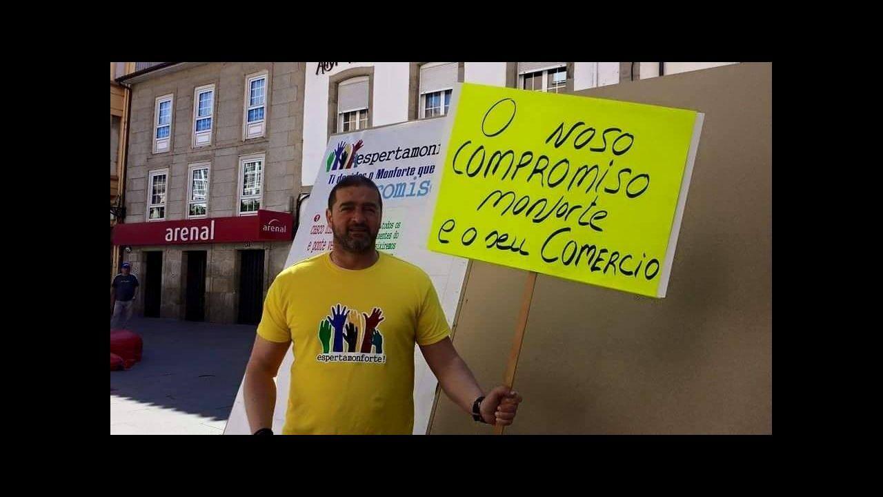 Germán Vázquez, en la campaña electoral de Esperta Monforte el año pasado