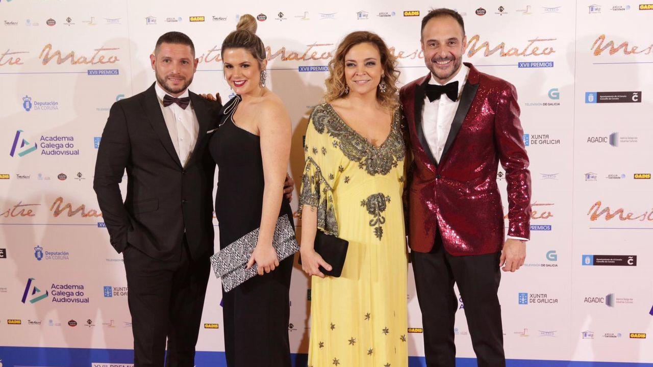 Eva Iglesias, o seu marido; Roberto Vilar e a súa muller
