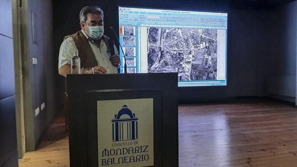 Gerardo Seoane, durante su intervención en Mondariz