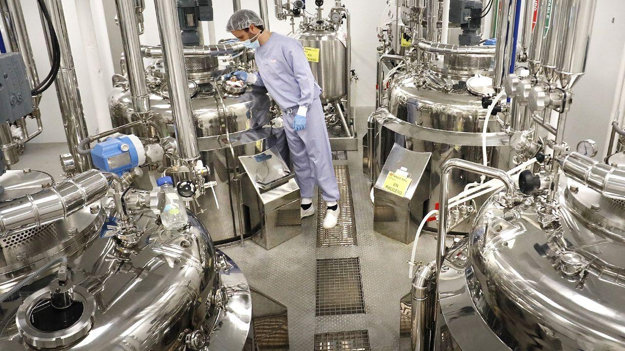Instalaciones de la empresa Biofrabri en O Porriño donde se fabrica la vacuna de Novavax