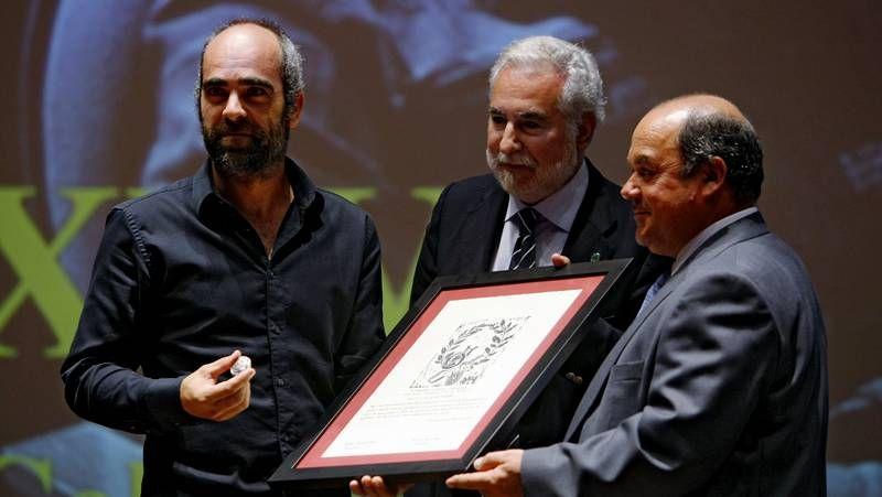 Xosé María Varela, Xosé Manuel Varela, Óscar Rey e Luís Giadás, onte, presentando o programa.