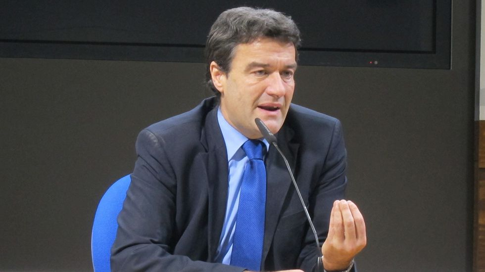 Agustín Iglesias Caunedo, en una junta local del PP de Oviedo.Alberto Mortera