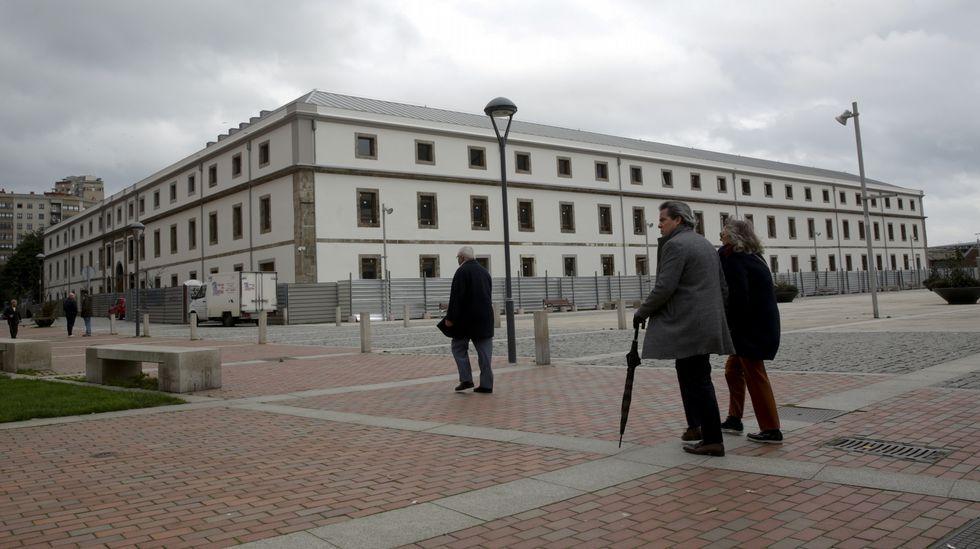 GALERÍA: Así es la nueva Audiencia Provincial de A Coruña.El interior del edificio de Tabacalera, en Gijón