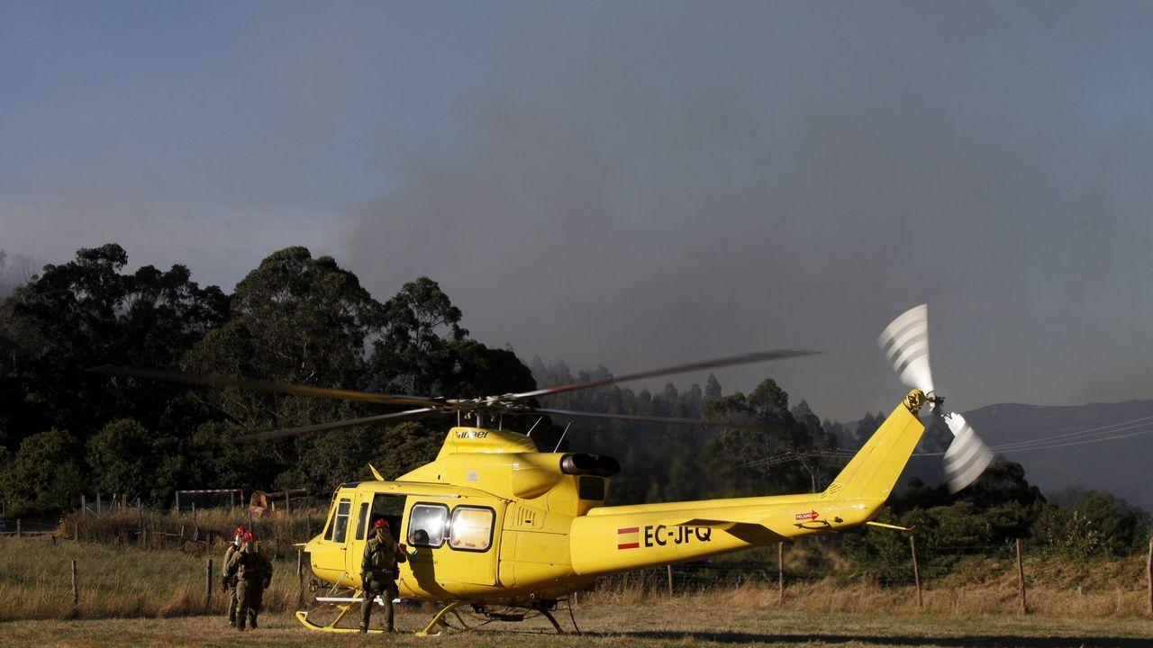 Un helicóptero de la Xunta, en una imagen de archivo