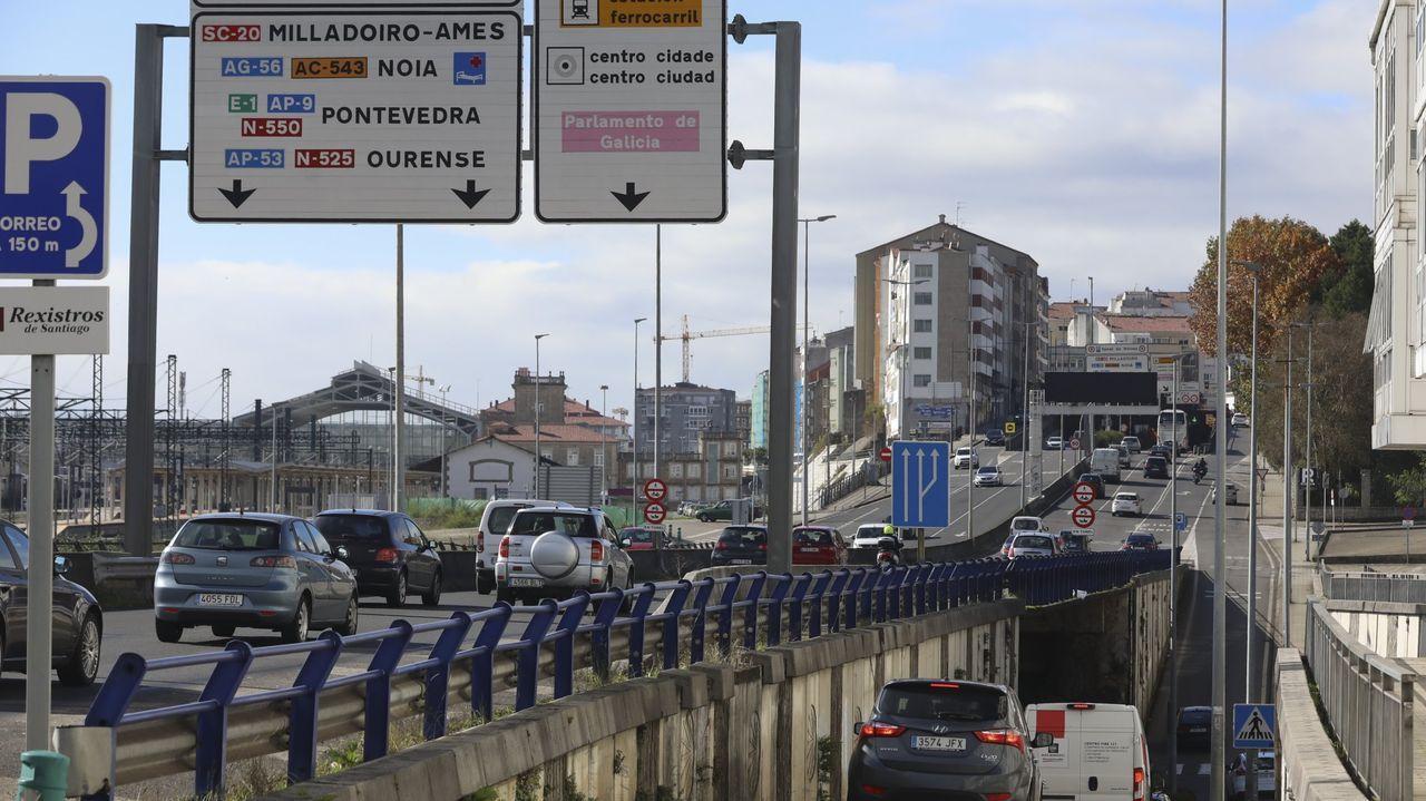 Principales propiedades del Estado en Galicia.Sendero del penúltimo tramo del Camino Francés, a la altura del concello de O Pino, sin peregrinos