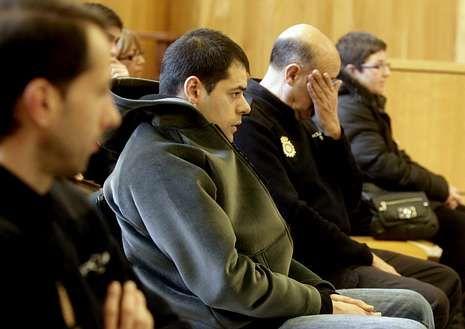 Javier Estrada, durante el juicio en la Audiencia coruñesa.