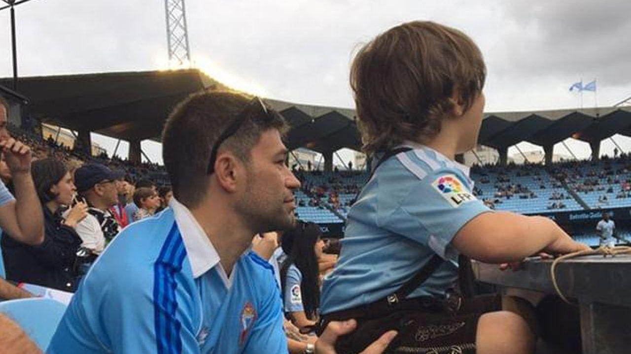 Joel, con su padre, Pablo