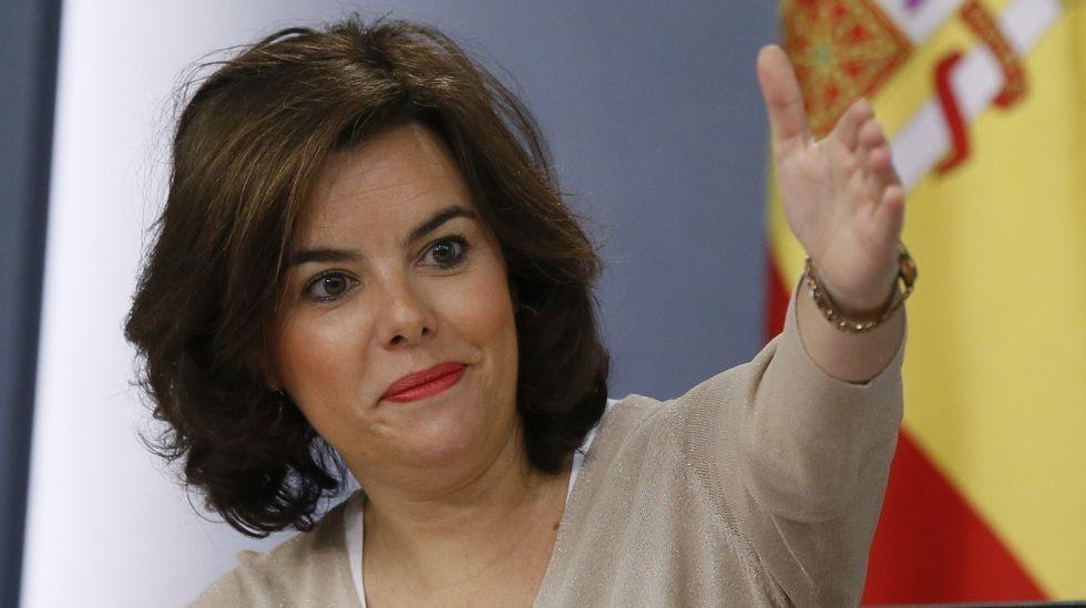 Soraya Sáenz de Santamaría sigue al frente de la vicepresidencia, del ministerio de la Presidencia y para las Administraciones Públicas.