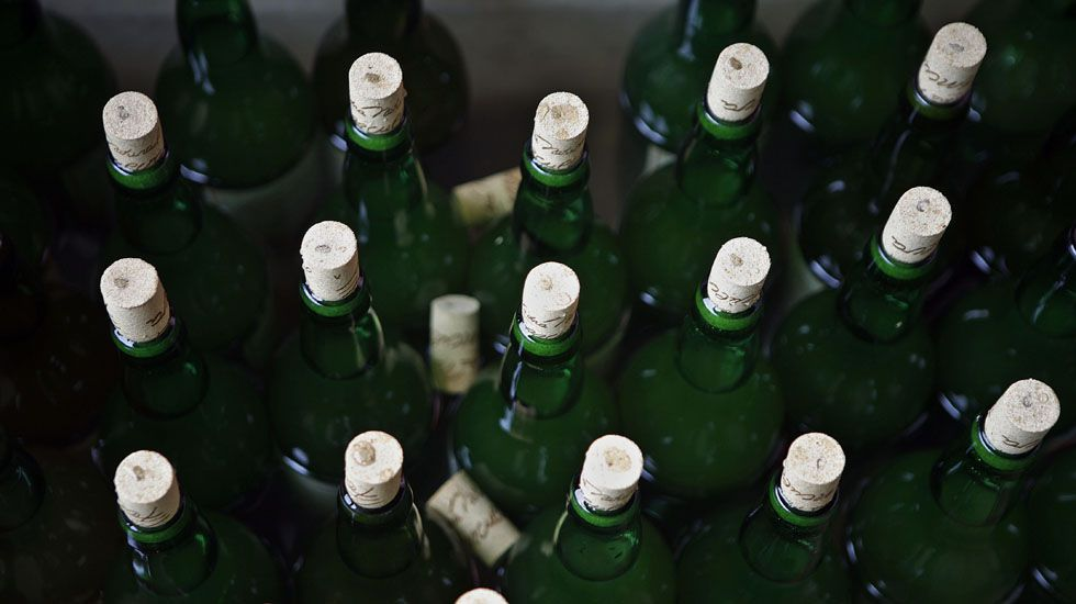 Botellas de sidra.Botellas de sidra