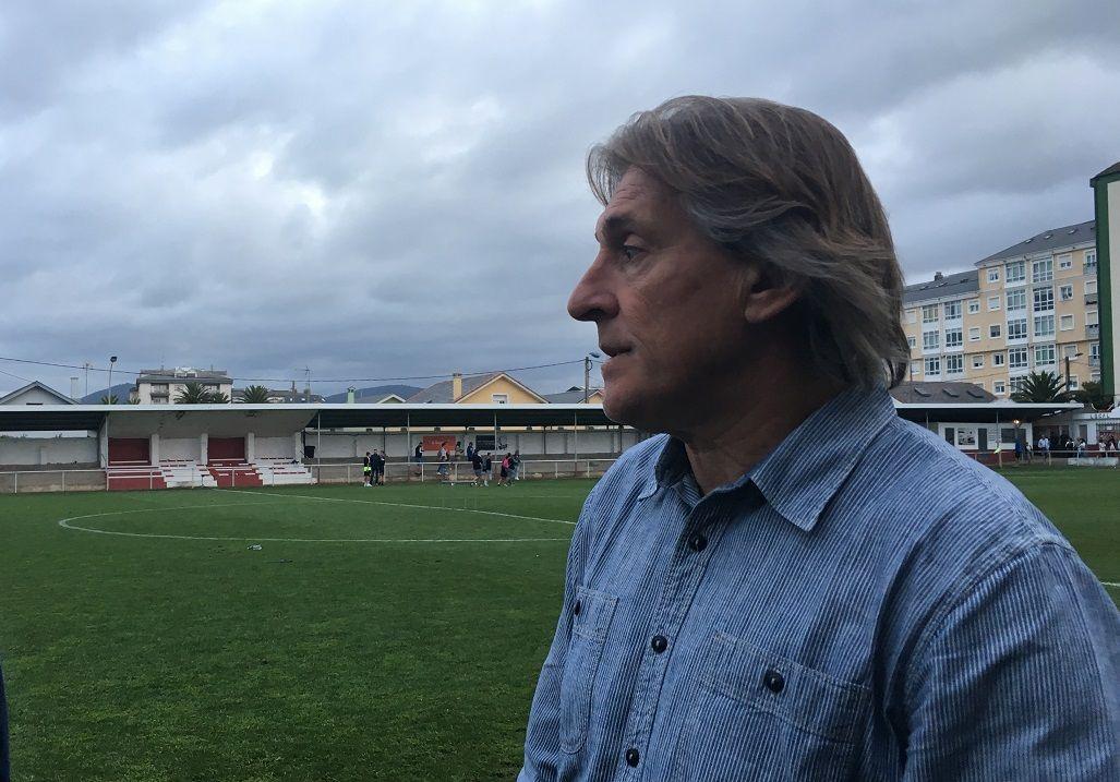 Tejera Mier Requexon.Sergio Egea tras el amistoso ante el Lugo en Foz