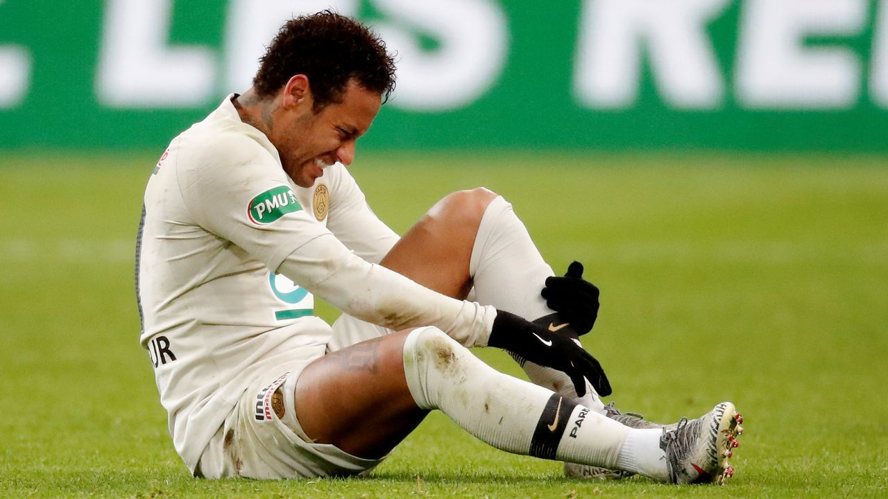 Neymar, en un entrenamiento de la selección brasileña