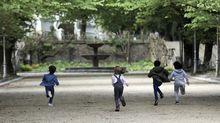 Niños jugando en Santiago
