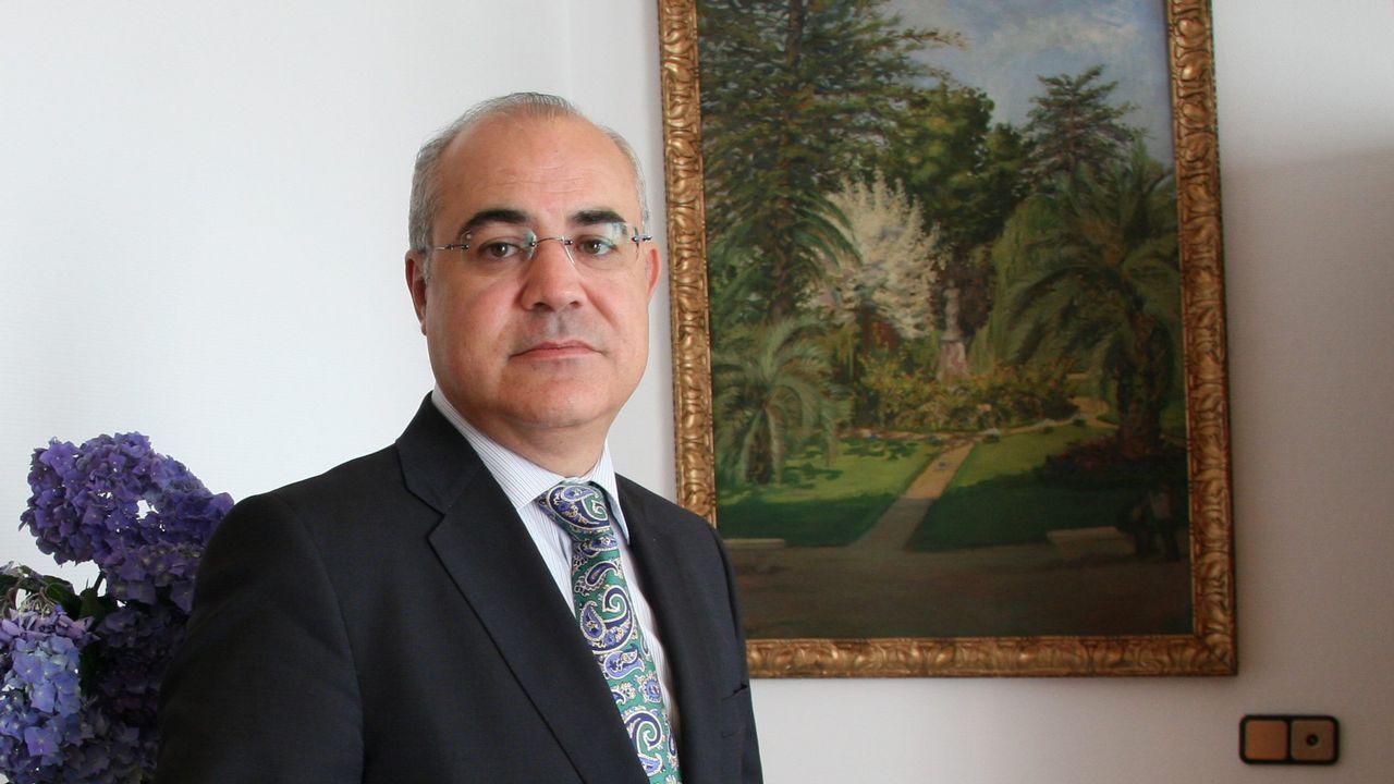 Pablo Llarena, en el Pazo de Mariñán en el 2013