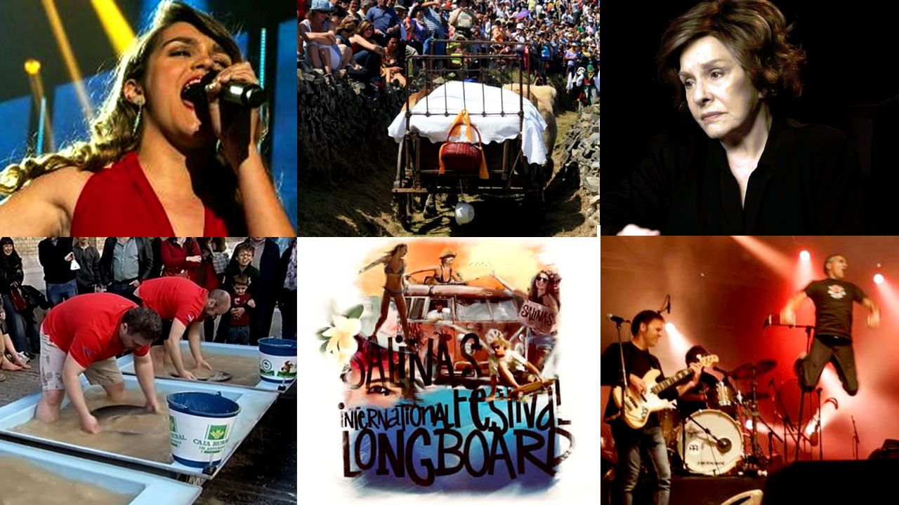 Imágenes de la segunda jornada de Caudal Fest.Bunbury y su banda tocando en directo en el plató de «La Hora Musa», que se emite los martes en La 2