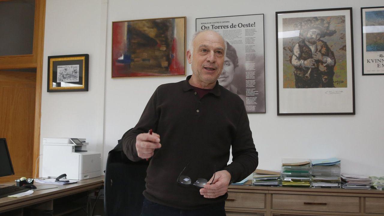 El exinspector Juan Antonio González Pacheco, «Billy el Niño», a la salida de la Audiencia Nacional