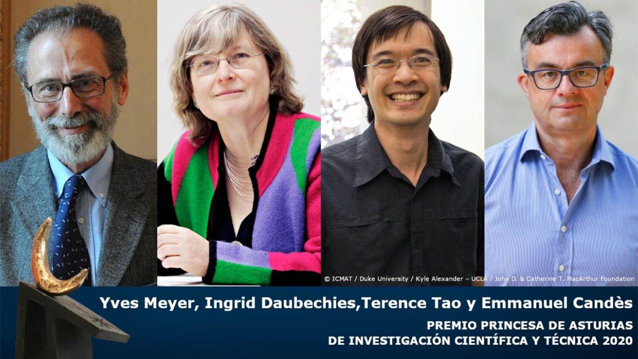 Así ha sido el fallo del jurado del Premio Princesa de Asturias de Investigación Científica y Técnica 2020.Yves Meyer, Ingrid Daubechies, Terence Tao y Emmanuel Candès, Premio Princesa de Asturias de Investigación Científica y Técnica