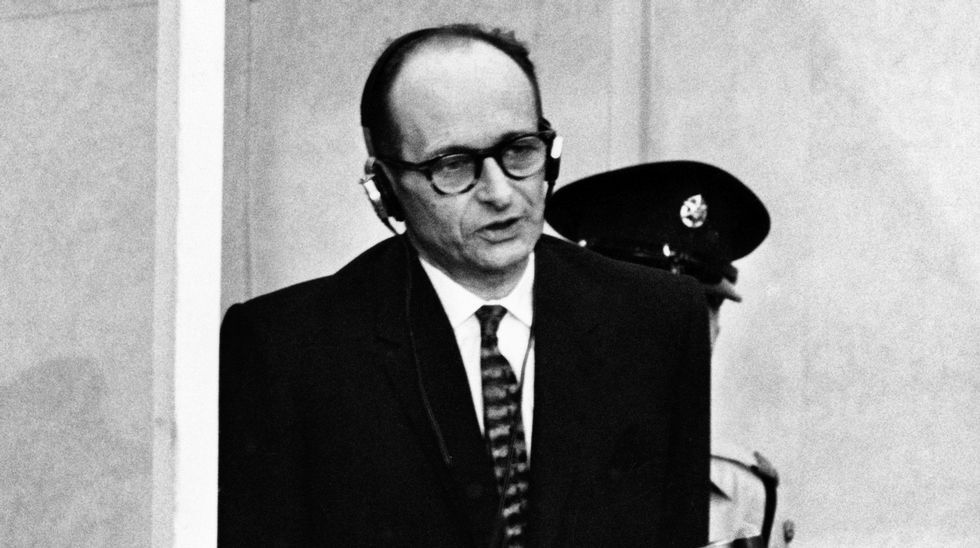 Adolf Eichmann, en una foto tomada en Israel en 1961