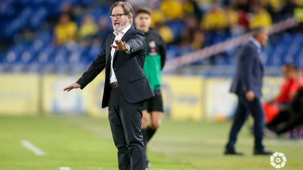Las mejores imágenes del Deportivo - Las Palmas.Anquela en el Estadio de Gran Canaria