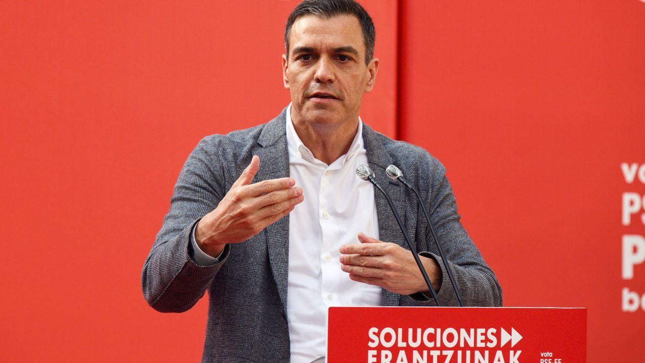 En directo: comparencencia de Gonzalo Caballero.PEDRO SÁNCHEZ, AYER EN VITORIA
