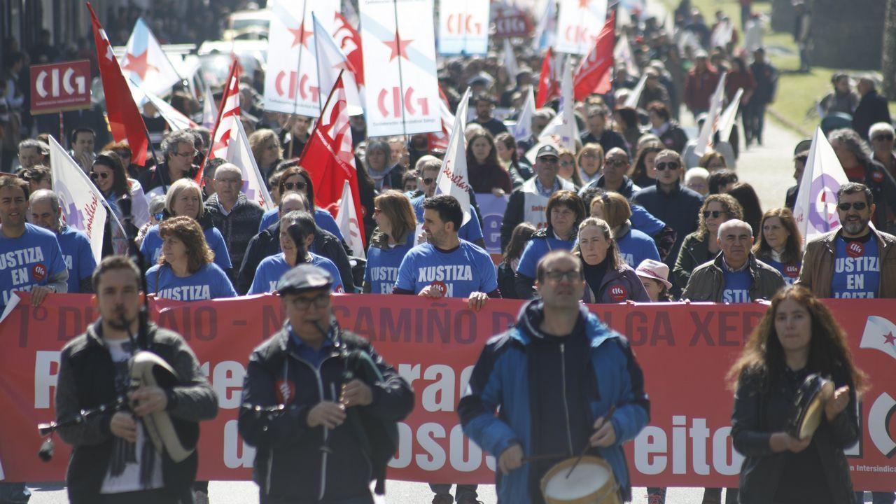 Los gallegos salen a la calle para reclamar mejores salarios y pensiones