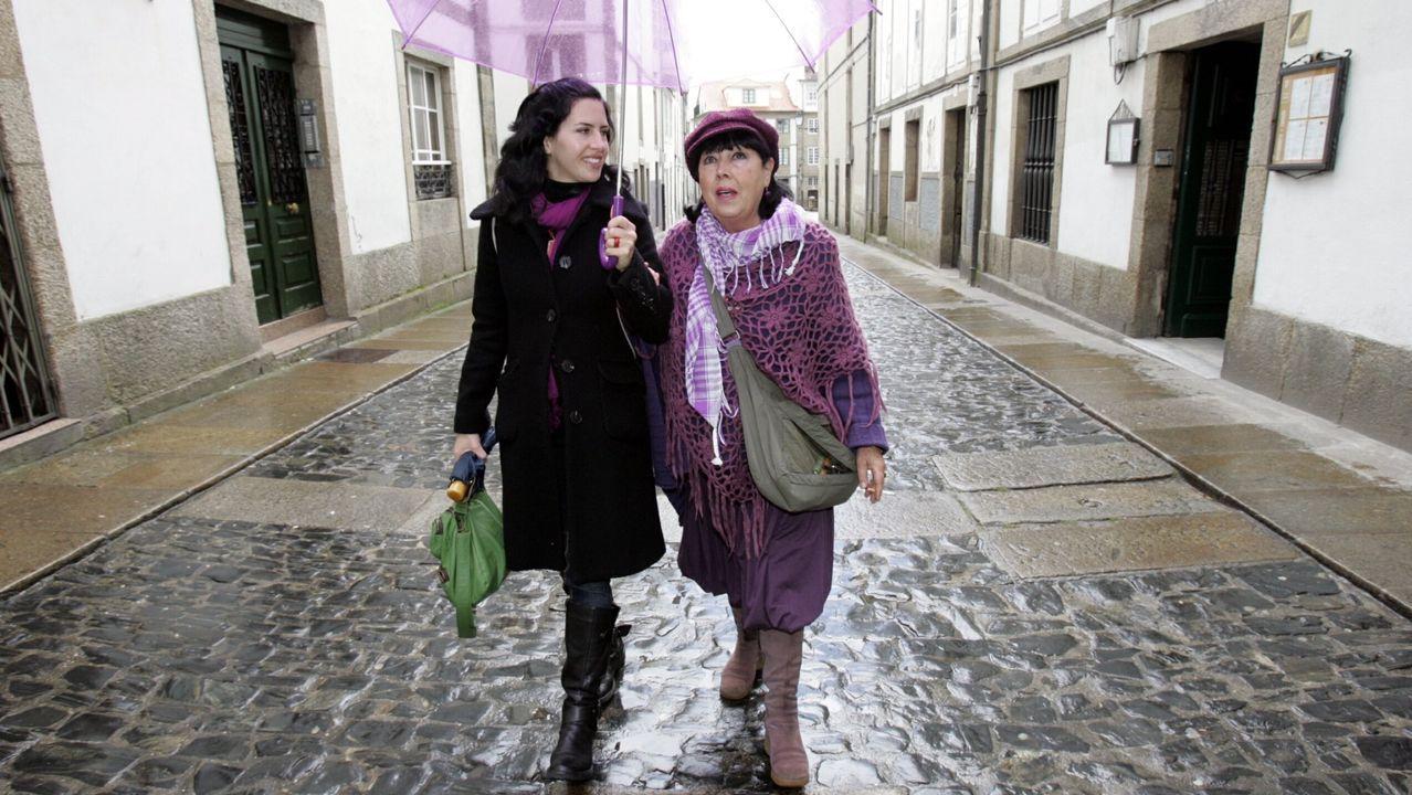 Camila Bossa e a súa nai, Pilar Pereira, nunha foto de arquivo do ano 2008