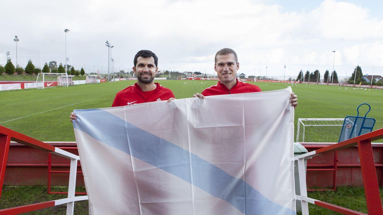 Álex López, jugador del Racing de Ferrol