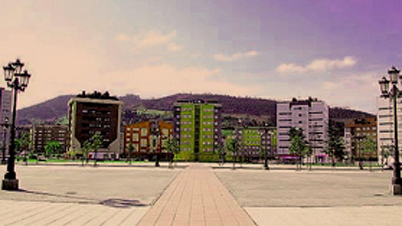 Plaza del Conceyín, en el barrio de la Corredoria de Oviedo