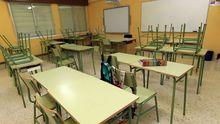 Un aula vacía