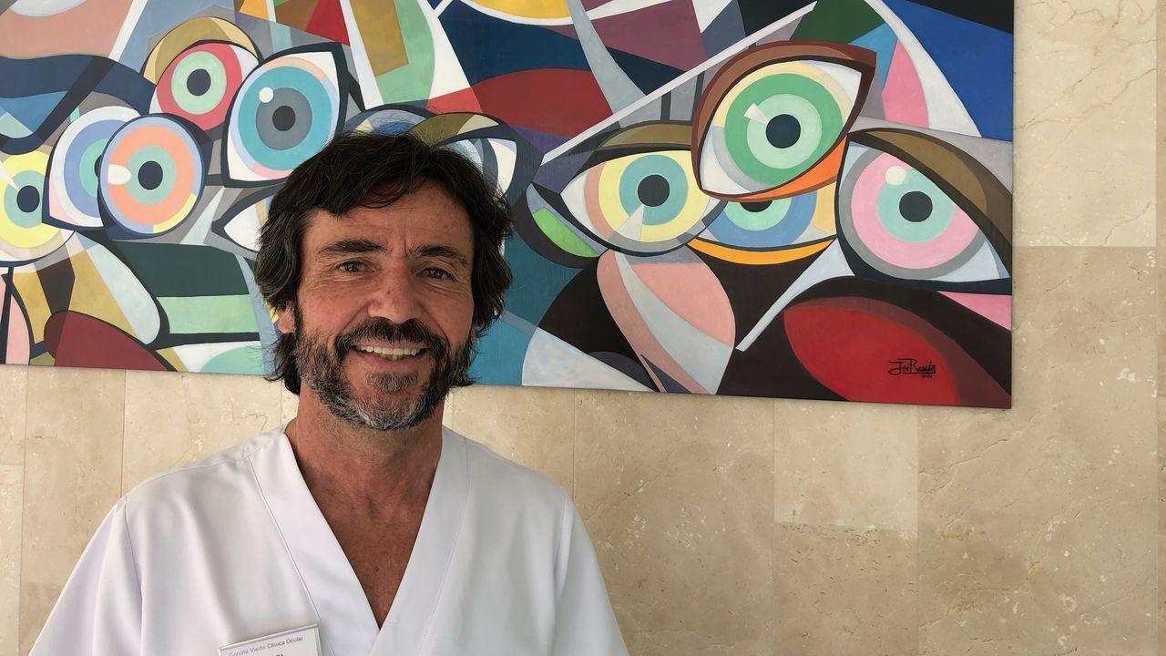 Juan Tábara, oftalmólogo de la Clínica Coruña Visión y en el Hospital San Rafael, de A Coruña