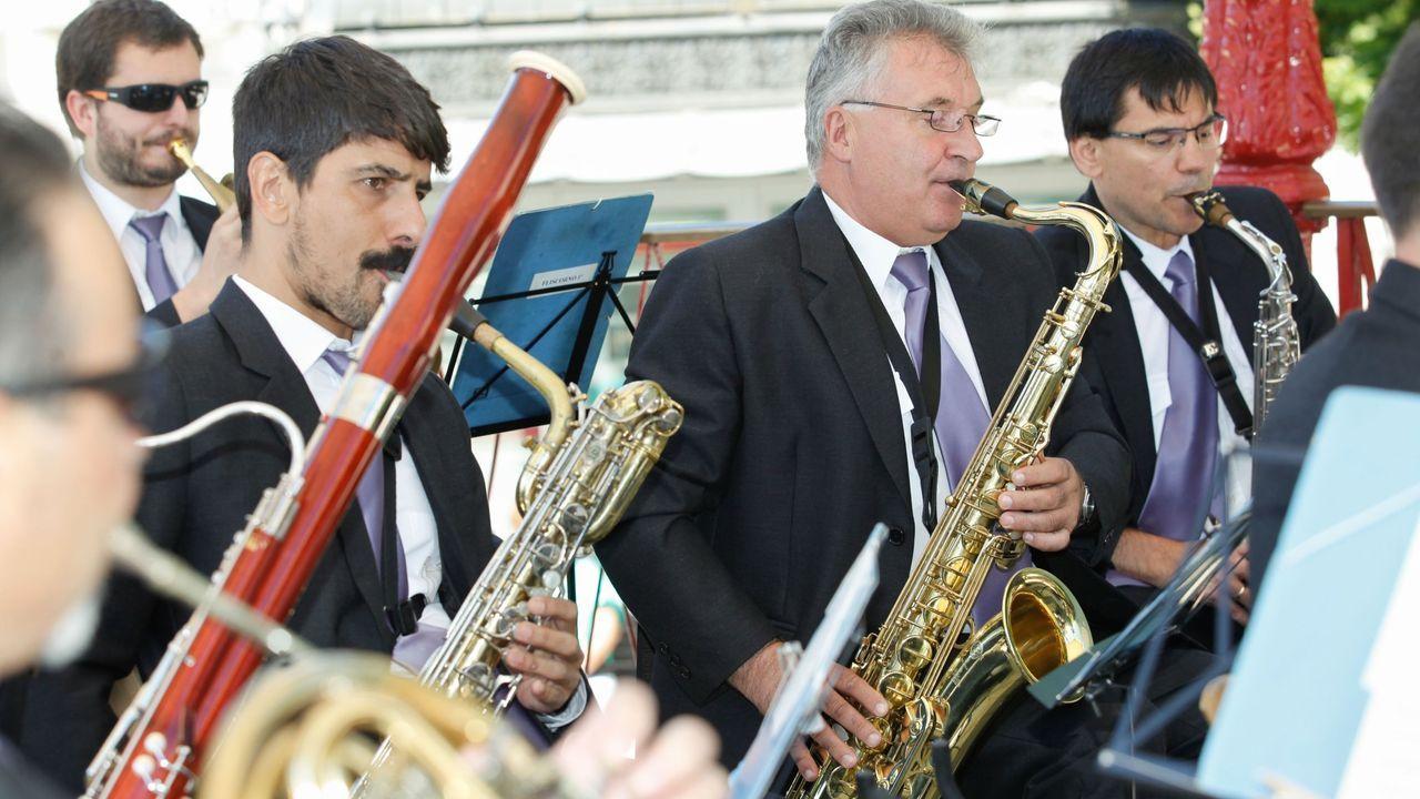 El grupo de Saxos de la Banda actuará en la Praza da Soidade