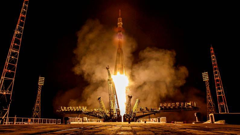 Despegue del cohete Soyuz TMA-13M