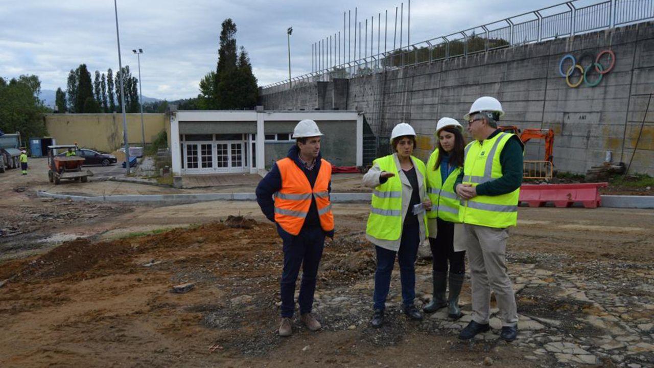 Ana Rivas visita las obras de las pistas de San Lázaro