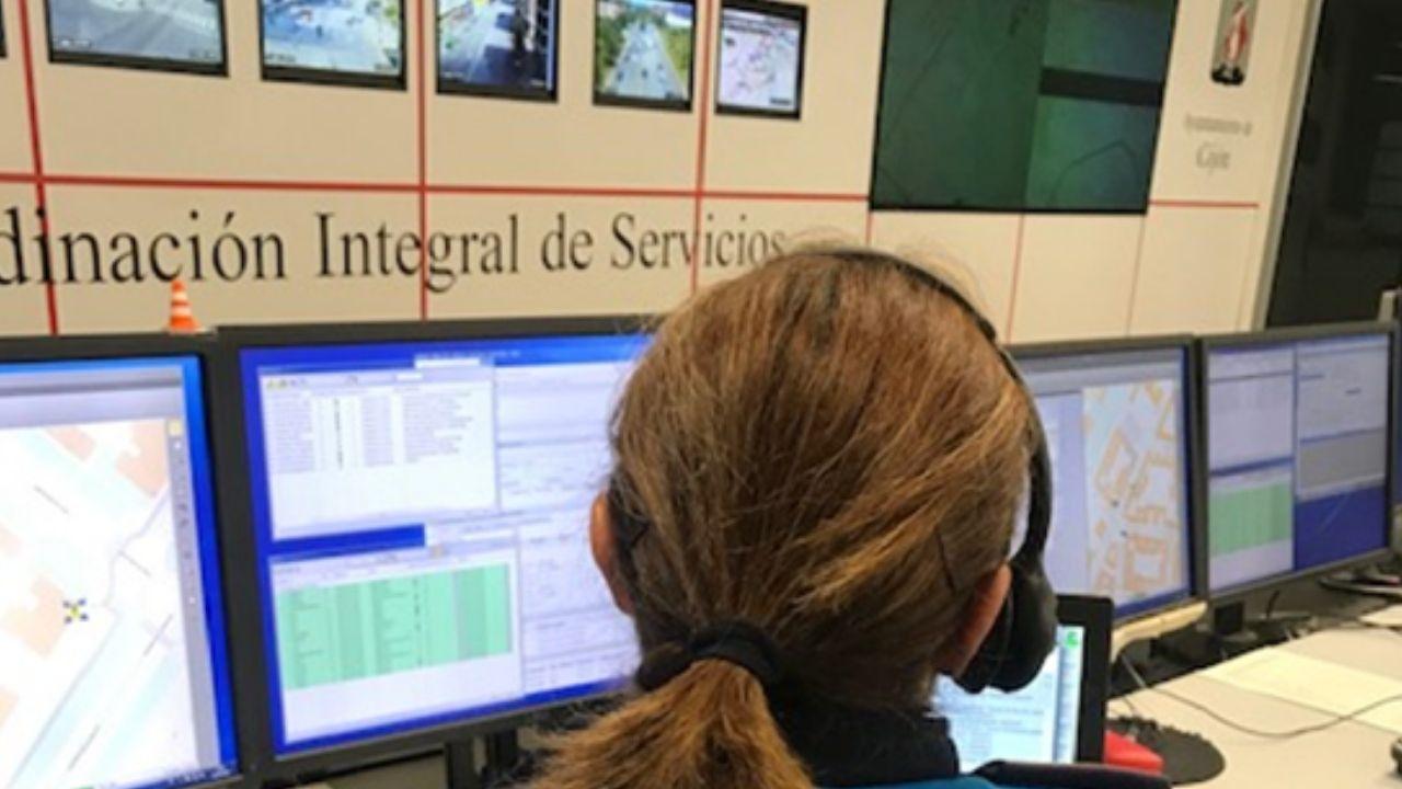 Central de servicios de la Policía Local de Gijón.Central de servicios de la Policía Local de Gijón