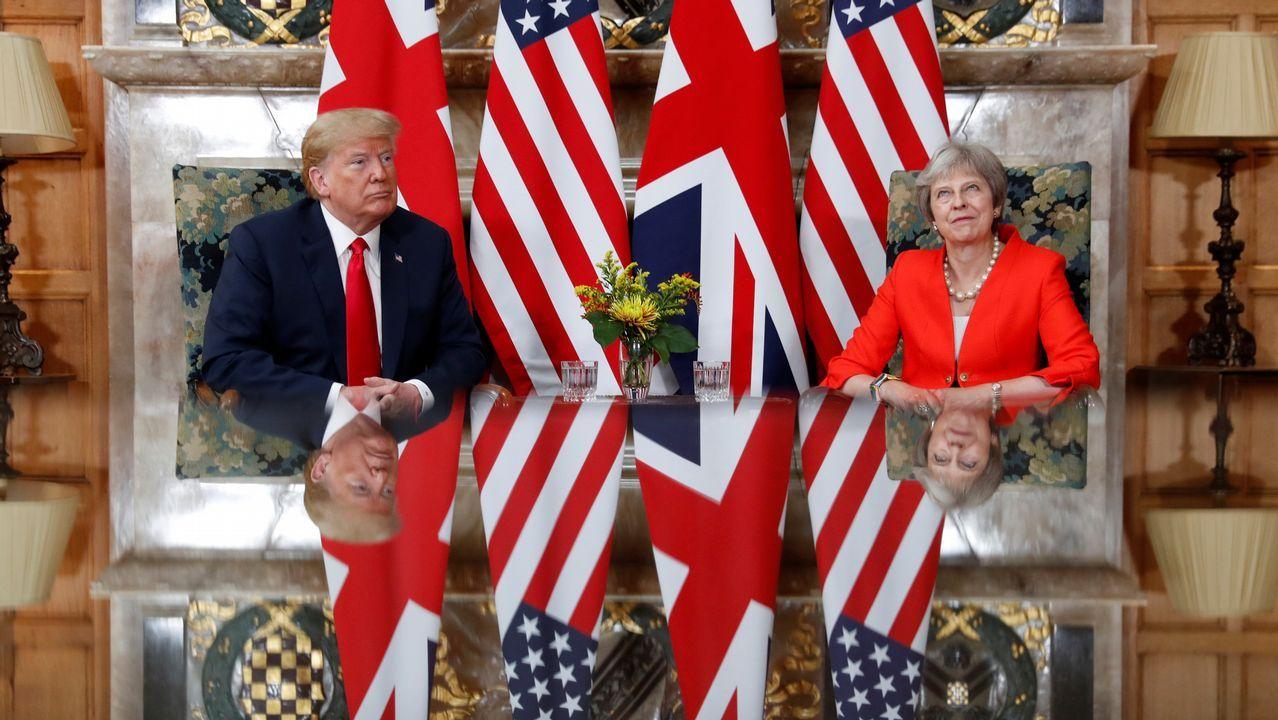 Theresa May y su homólogo estadounidense, reunidos en Buckinghamshire