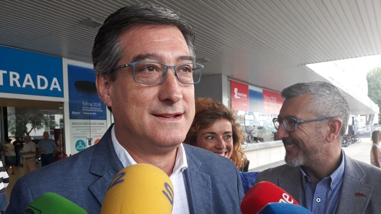 El diputado nacional de Ciudadanos por Asturias, Ignacio Prendes, antes de visitar la Fidma