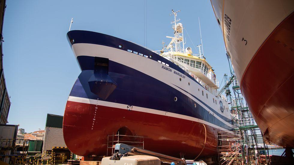 Nodosa repara dos barcos científicos del IEO.La directora de márkting de Lence habla del proyecto configurador de la compañía