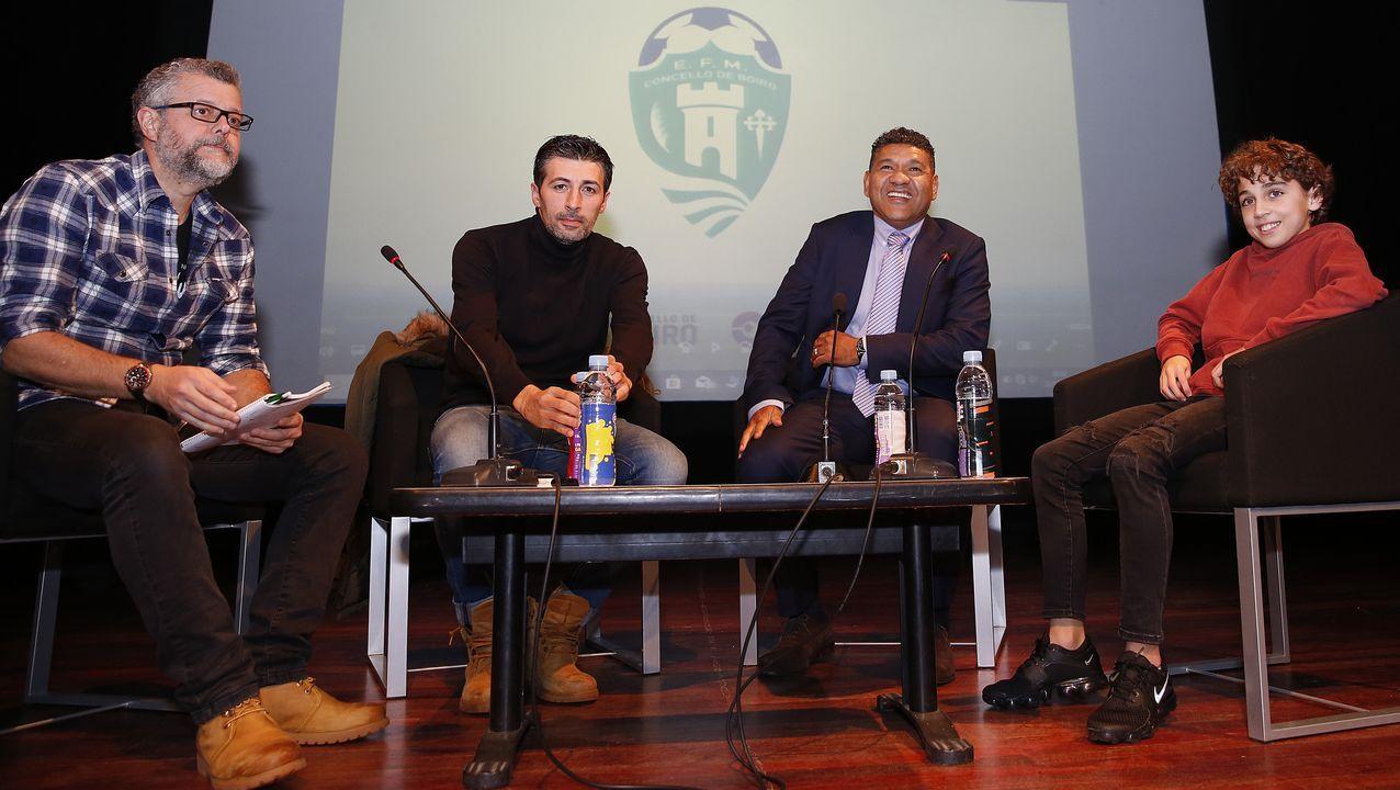 Presentación del CF Monforte.Michu en el Carlos Tartiere