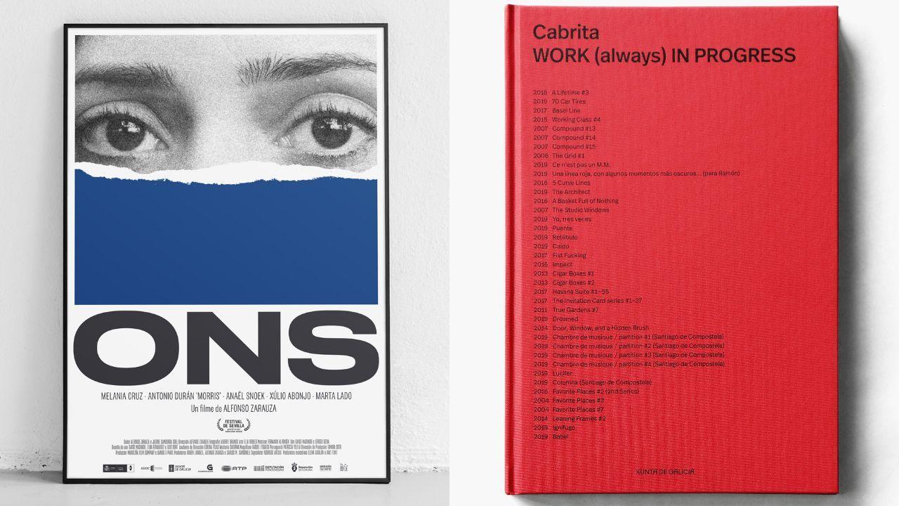 O cartel para a película «Ons» e o catálogo da mostra de Pedro Cabrita