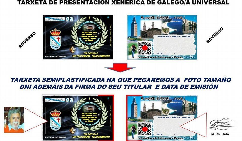 El diseño del pasaporte de embajador de Galicia es similar el del DNI.