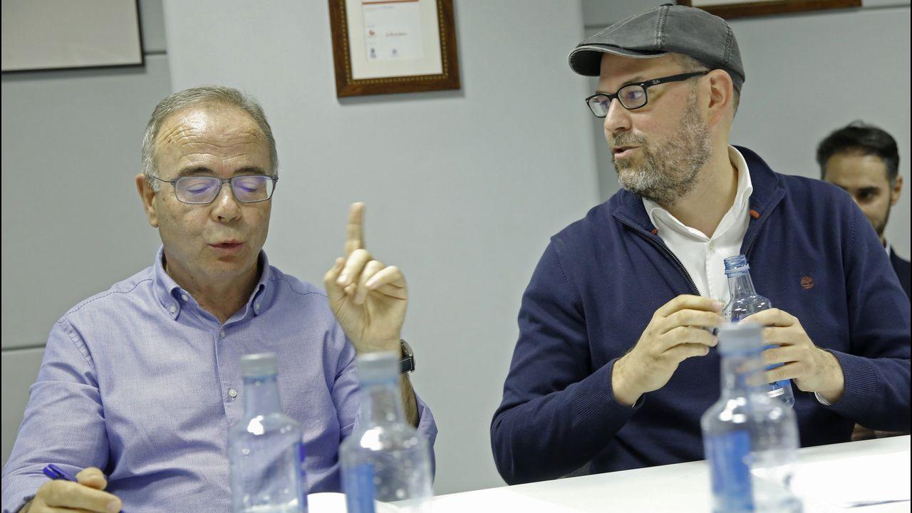 Sánchez Bugallo y Martiño Noriega, durante un debate electoral en La Voz