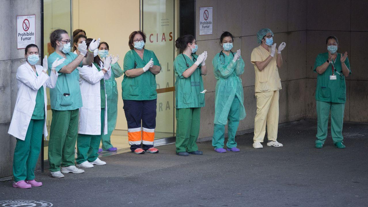 Desinfección en espacios públicos de Muxía