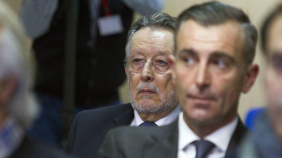 El exvicealcalde de Valencia, Alfonso Grau, y el exdirector de la Ciudad de las Artes y las Ciencias de Valencia, José Manuel Aguilar, en el banquillo de los acusados.