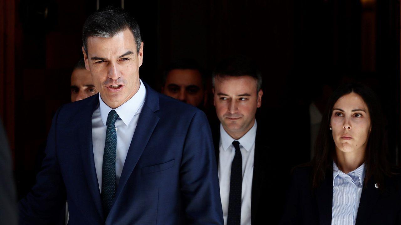 Mariano Rajoy: «Viva el vino del Ribeiro».Pedro Sánchez y su asesor Iván Redondo salen del Congreso tras la fallida sesión de investidura